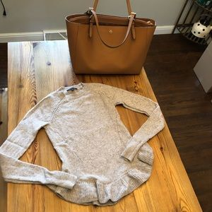 {Ann Taylor} Wool and Cashmere Peplum Sweater